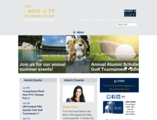 alumni.uri.edu screenshot