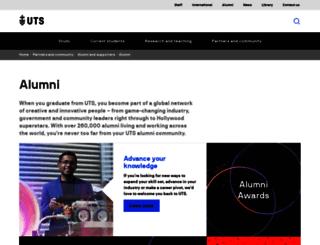 alumni.uts.edu.au screenshot