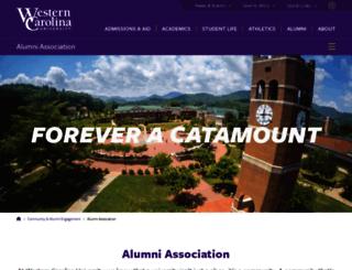 alumni.wcu.edu screenshot