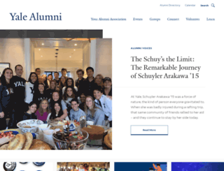 alumni.yale.edu screenshot