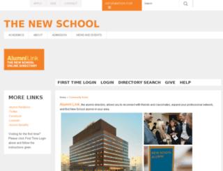 alumnilink.newschool.edu screenshot