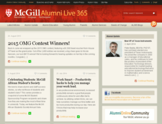 alumnilive365.mcgill.ca screenshot
