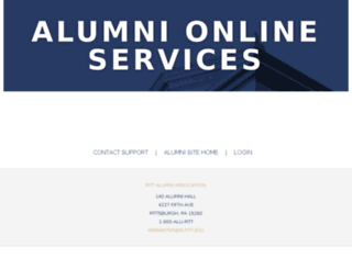 alumnionline.pitt.edu screenshot