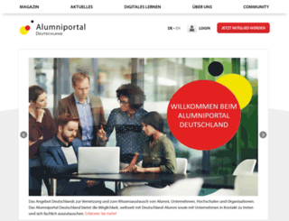 alumniportal-deutschland.com screenshot