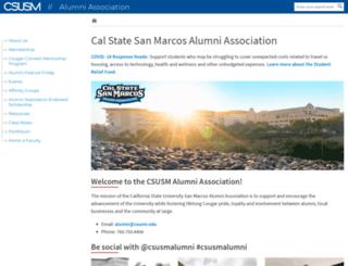 alumniweb.csusm.edu screenshot
