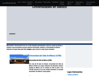alumnosonline.com screenshot