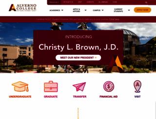 alverno.edu screenshot