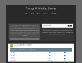 always-unblockedgames.weebly.com screenshot