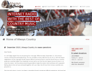 alwayscountry.net screenshot