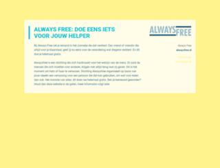 alwaysfree.nl screenshot