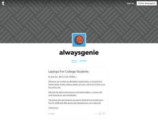 alwaysgenie.tumblr.com screenshot