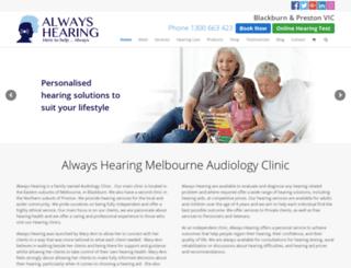 alwayshearing.com.au screenshot