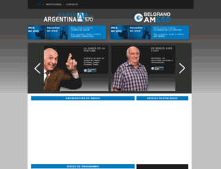 am570radioargentina.com.ar screenshot