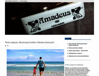 amadeus-hotel.pl screenshot