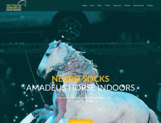 amadeushorseindoors.at screenshot