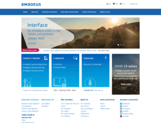 amadeusindia.net screenshot