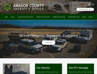 amadorsheriff.org screenshot