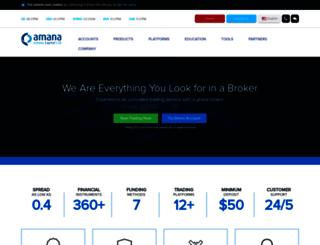 amanacapital.com.cy screenshot