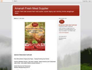 amanahfreshmeatsupplier.blogspot.com screenshot
