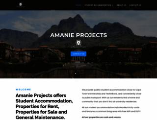 amanieprojects.co.za screenshot