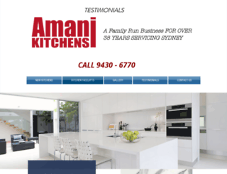 amanikitchens.com.au screenshot