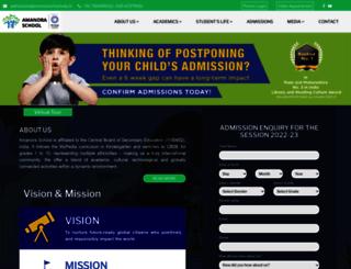 amanoraschool.edu.in screenshot