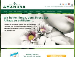 amanusa-frauenfitness.de screenshot