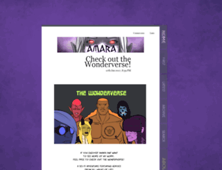 amara.thecomicstrip.org screenshot