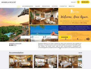 amarelaresort.com screenshot
