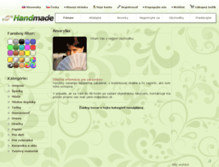 amarylka.handmade.sk screenshot
