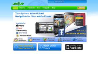 amazegps.com screenshot