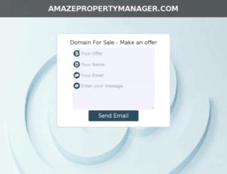 amazepropertymanager.com screenshot
