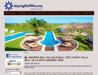 amazingbalivillas.com screenshot