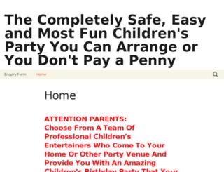 amazingchildrensparties.co.uk screenshot
