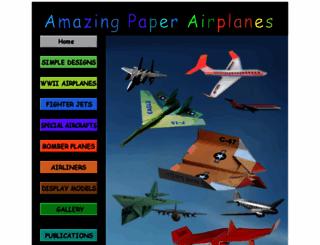 amazingpaperairplanes.com screenshot