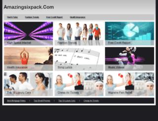 amazingsixpack.com screenshot