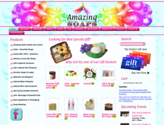amazingsoaps.com.au screenshot