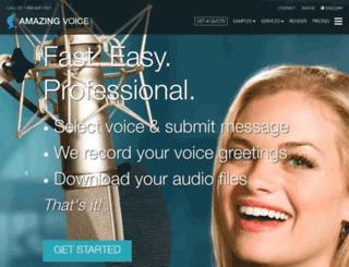 amazingvoice.com screenshot