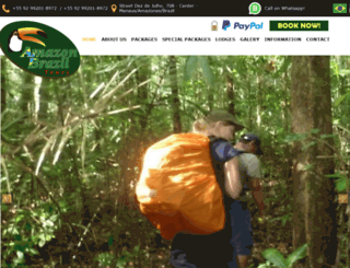 amazonbraziljungletours.com screenshot