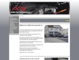 amb-fahrzeugtechnik.de screenshot