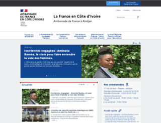 ambafrance-ci.org screenshot