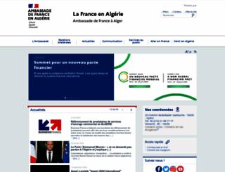 ambafrance-dz.org screenshot