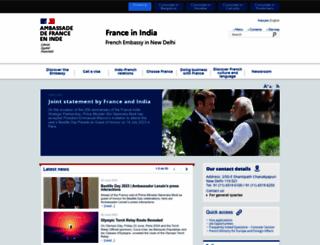 ambafrance-in.org screenshot