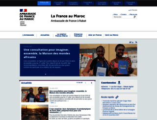 ambafrance-ma.org screenshot