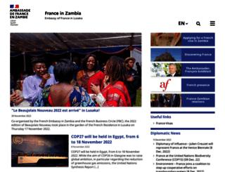 ambafrance-zm.org screenshot