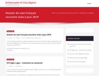 ambassade.algerie-sites.com screenshot
