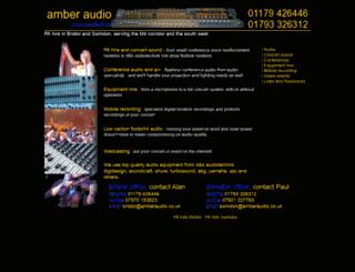 amberaudio.co.uk screenshot