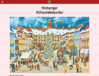 amberger-adventskalender.de screenshot