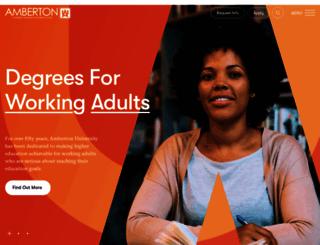 amberton.edu screenshot