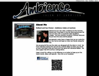 ambiencesalon.shawwebspace.ca screenshot